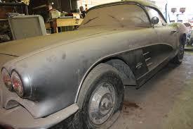 corvettes for sale on ebay corvettes on ebay 1961 corvette is a true barn find corvette