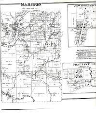 Madison Ohio Map by Vinton County Ohio Township Maps