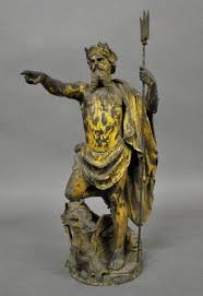 statue of the greek god neptune late 19th c