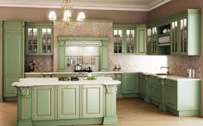 green kitchen islands retro kitchens brown polished hardwood legs gloss kitchen