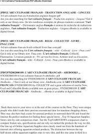 dictionnaire cuisine francais l culinaire français pdf pdf
