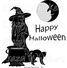 cute halloween witch and brew clipart collection