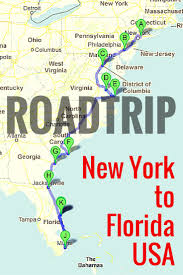 Driving Map Of Florida by Road Trip Along The East Coast Of Usa East Coast Road Trips And