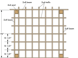 how to build a backyard pergola sunset square trellis plan building notes
