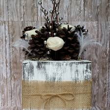 Pine Cone Wedding Table Decorations Shop Winter Centerpiece On Wanelo
