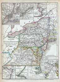 map of maryland delaware and new jersey die staaten new york pennsylvania maryland new jersey