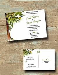tree wedding invitations custom tree wedding invitations with rsvp bird wedding inv