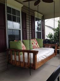 Diy Outdoor Daybed Hanging Plans Engaging Exterior Comfortable Terrace With Porch