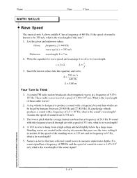 electromagnetic waves worksheet worksheets