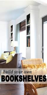 exterior concrete block and wood bookshelf combined with grey wall