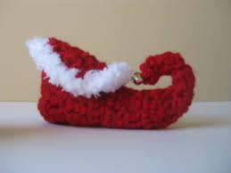 crochet baby booties christmas elf shoes slippers socks