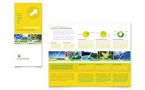 environmental conservation tri fold brochure template word
