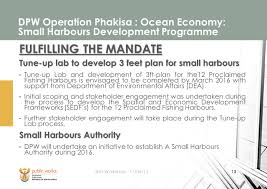 presentation on the ocean economy programme public works portfolio