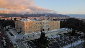 syntagma square athens greece central square with