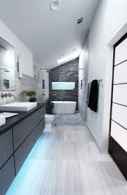 great layout for long narrow bathroom modern clean lines jdl