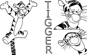 spicy tigger coloring wecoloringpage