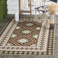 Veranda Living Indoor Outdoor Rug Safavieh Indoor Outdoor Veranda Black Cream Rug 8 U0027 X 11 U00272