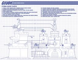 Castle Blueprint Custom G I Joe Diorama Silent Castle Cobra Headquarters
