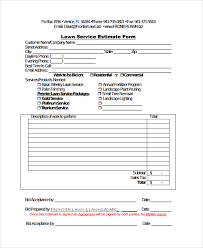 House Cleaning Estimate Form by Sle Service Estimate Template 7 Free Documents In
