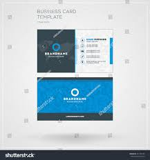 business card print template personal visiting stock vector