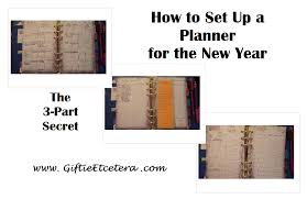how to set up a planner giftie etcetera how to set up a planner