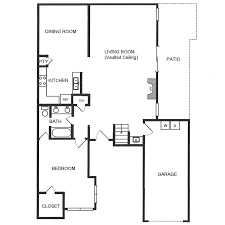 Vaulted Ceiling Floor Plans C3 U2013 Waterbury Place Townhomes