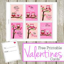 free printable valentines cards krafty owl