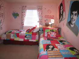 bedroom lovely teenage bedroom for two with pale pink wall paint