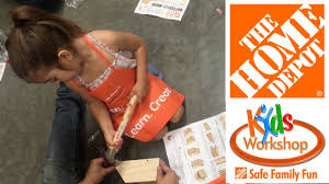 home depot free kids workshop butterfly house youtube