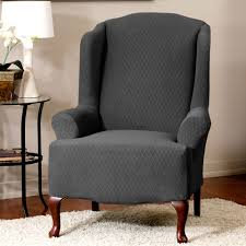 living room elegant and cozy wing chair slipcover for your living