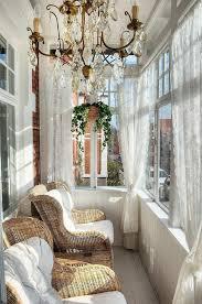 Cozy Sunroom Romantic Small Sunroom With Rattan Furniture