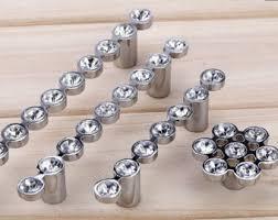 3 75 5 silver glass dresser pulls drawer pull