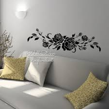 popular roses sticker wall buy cheap roses sticker wall lots from rose flower wall sticker rose wall decal diy modern blossom wall stickers living room decor easy