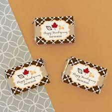 personalized thanksgiving mini bar wrappers fall theme