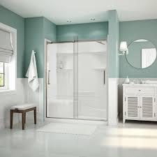 900 Shower Door Aquatic Artesia 59 In X 74 In Frameless Sliding Glass Shower