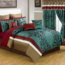 Blue And Brown Bed Sets Lavish Home Green 24 Comforter Set 66 00013 24pc Q