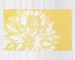 Flower Area Rug Yellow Flower Area Rug Yellow Floral Rug Modern Flower Rug