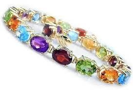 bracelet gemstone images 14k gold multi color oval gemstone bracelet only 995 00