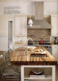 kitchen island wood countertop classic white kitchen brooks custom