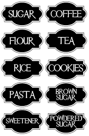 labels for kitchen canisters a chic set of 10 vinyl kitchen canister labels decal