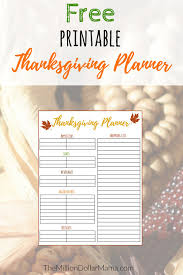 free printable thanksgiving menu planner shopping list