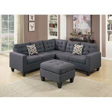Navy Blue Sofa Set Furniture Skylar Sectional Sofa In Blue For Cool Living Room