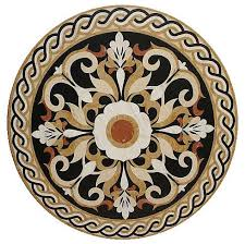 waterjet floor medallion made with marble mediterranean