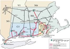 new england central railroad map physical map of us and canada