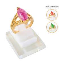 cincin lapis emas cincin batu giok warna xuping gold lapis emas cincin batu