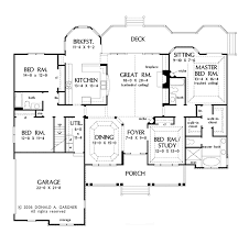 traditional style house plan 4 beds 3 baths 2531 sq ft plan 929 floor plan main floor plan
