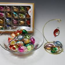 wheatonarts boxed set of 24 small glass ornaments wheatonarts