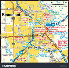 Ft Detrick Map Beaumont Texas Area Map Stock Vector 170004053 Shutterstock