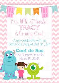 monster invitation personalized monsters inc inspired girls birthday invitation u0026