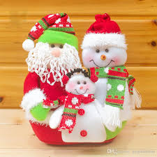 retractable santa claus snowman dolls standing navidad